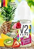 V2 Vape E-Liquid Monsterfrucht - Luxury Liquid für E-Zigarette und E-Shisha Made in Germany aus natürlichen Zutaten 10ml 0mg nikotinfrei