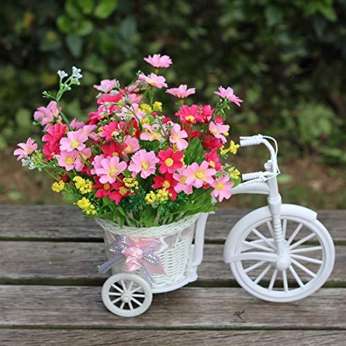 Lanbinxiang@ Consegna casuale di colore del nastro di seta, abbastanza piccola dimensione cesto di fiori vaso fatto a mano cesti di vimini triciclo bicicletta home decor giardino decorazione della fes