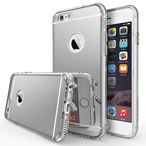 Ringke cover per iphone 6, fusion mirror, elegante finitura a specchio, protezione anti goccia/tecnologia di assorbimento degli urti, per apple iphone 6–argento