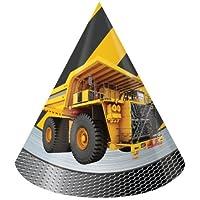 Creative Converting 21590 Construction Zone Cone Hats, Multicolor