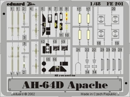 Eduard Accessories fe20130502000AH-64D Apache