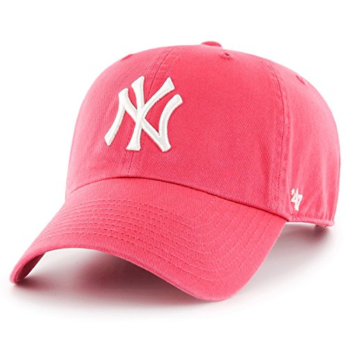 Gorra 47 Brand – Mlb New York Yankees Clean Up Curved V Relax Fit rojo  16a1b2c040a