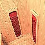 Home Deluxe – Infrarotkabine – California L – Keramikstrahler – Holz: Hemlocktanne - Maße: 130 x 120 x 195 cm – inkl. vielen Extras und komplettem Zubehör - 6