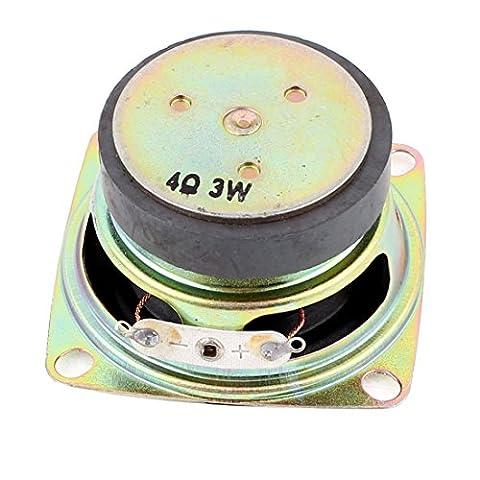 sourcingmap® Multimedia 3W 3 Watt 4 Ohm 52mm Dia Aluminum Internal Magnet Lautsprecher de