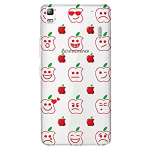 URBAN KOLOURS Original Designer Printed Clear Case Back Cover for Lenovo A7000 Plus (Cheeky Apple)