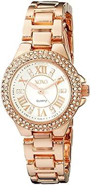 XOXO Womens Quartz Watch, Analog Display and Gold Plated Strap XO5768