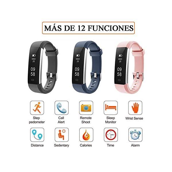Pulsera de Actividad Inteligente, Sumergible Reloj Deportivo IP67 Smartwatches Cómodo con Pantalla Táctil Longitud… 7