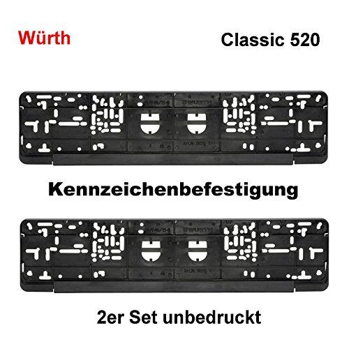Würth KSB 2er Set Kennzeichenbefestigung Kennzeichenhalter Nummernschildhalter Kennzeichenverstärker 520 Standard Classic