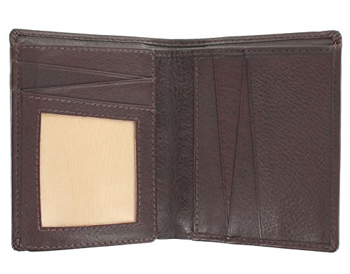 Kompakte Herren Leder Brieftasche, zweifach gefaltet, VERVE Kollektion von Mala Leder 130_26 Schwarz Braun