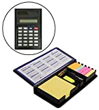 #10: MeRaYo™ Diary Style Sticky Notes Memo Pad Holder With Calculator + Stapler + Marker Pen + U-Clips, All In One, Multi Purpose office home stationery Desktop organizer