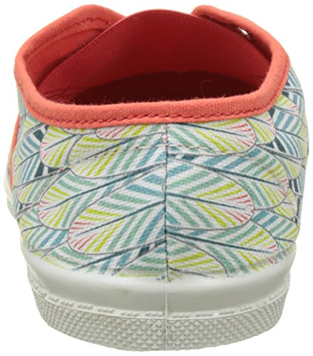Bensimon Tennis Elly Plumes, Baskets Basses Fille Orange (Corail)