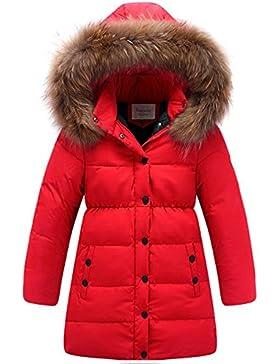 HAINES Piumino Bambino Invernale Giacca Bambina Piumino Lungo Cappuccio Cappotto Bambina Snowsuit per Bambini