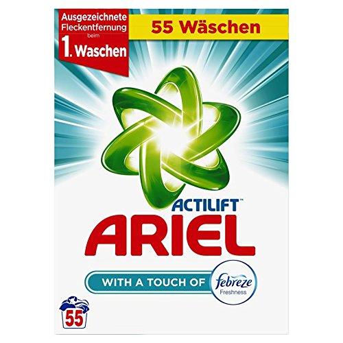 Ariel Vollwaschmittel mit Febreze Pulver, 1er Pack (1 x 55 Waschladungen)