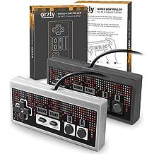 Orzly® - Mandos para la Nintendo NES Classic Edition (PACK DE DOS) – 2 x Mando con cable de 1.8m para la Nintendo NES Classic Edition (Nueva Versión Mini de 2016)