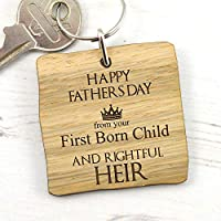 Game of Thrones First Born and Rightful Heir - Fathers Day Gift - Wooden Keyring