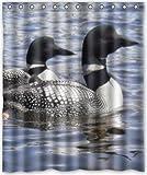 CHATAE 152,4x 182,9cm Zoll Loon Lake Duschvorhang New Wasserdicht Polyester Stoff Vorhang (Dusche Badewanne Ringe im lieferumfang Enthalten)