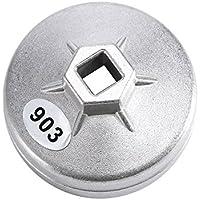74mm 14flauta del filtro de aceite de aluminio llave herramienta Socket Remover 903plata color para BMW AUDI Benz