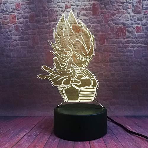 wangZJ 3d führte Farben der Illusions-Light7 Licht- / Tischlampen-Atmosphären-Dekoration/Kindergeburtstags-Geschenke/Vegeta Legenden