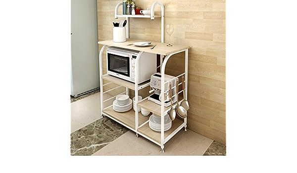 Credenza Per Microonde : Hwf unità di mensole scaffale a muro per forno microonde
