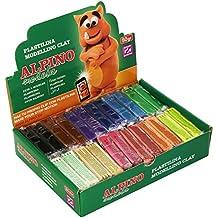 Alpino DP000915 - Expositor plastilina de 24 unidades 50 gramos, colores surtidos
