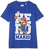 SUPER MARIO BROS 6957 T- T-Shirt, Bleu, (Taille Fabricant:10 Ans) Garçon