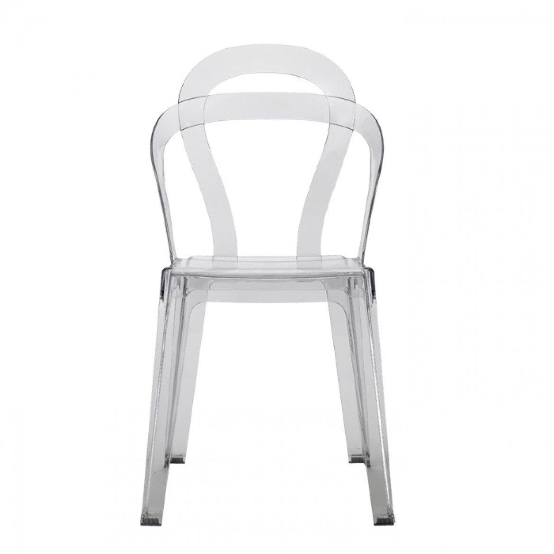 Set di 4 sedie Titì di Scab Design impilabile, Trasparente: Amazon ...