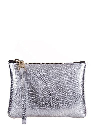GUM BY GIANNI CHIARINI BORSA PICCOLA POCHETTE LATTICE ARGENTO, 4051.GUM