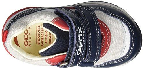 Geox B Rishon C, Chaussures Marche Bébé Garçon Bleu (Navy/Redc0735)