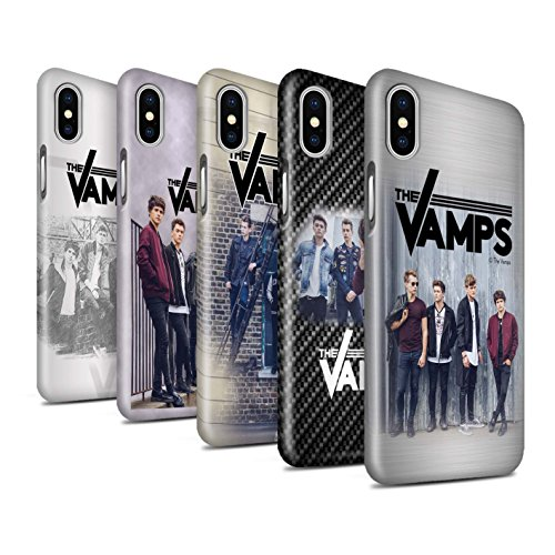 Offiziell The Vamps Hülle / Glanz Snap-On Case für Apple iPhone X/10 / Kohlenstoff Muster / The Vamps Fotoshoot Kollektion Pack 6pcs