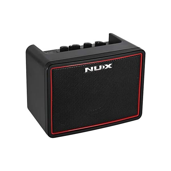 Muslady Amplificatore per chitarra elettrica 3W Desktop Mighty Lite BT Mini NUX 3 canali Incassato Ritardo Effetti del riverbero 9 modelli di batteria Metronomo Tempo del nastro