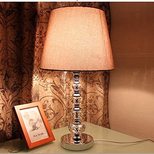 Seven stars Beleuchtung Tischlampe Crystal - TDS805 Nordic Moderne Kreative Wohnzimmer Studie Schlafzimmer Nacht Lampen (Farbe : Gray)