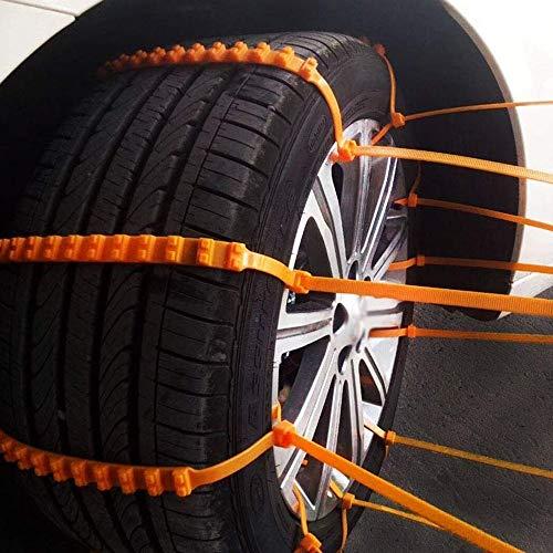 Shanyaid Qualität zu Tragbare Notfall Traction Auto Schnee Reifen Anti-Rutsch-Ketten Für TPU Vans Und Light Trucks Reifen Wiederholt Verwendet (Color : Red, Size : S) (Scan-kette)