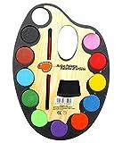 #9: SNB Kids Large Palette Water Colour Set 12 Colour + Artist Paint Brush