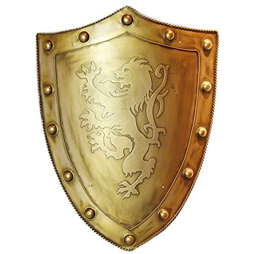 Ritterschild und Schwert, Ritterschild Wanddekoration Startseite Vintage Ornaments Medieval Warrior Shield Handheld Dekoration (Shield-handheld)