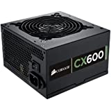 Corsair CP-9020048-UK Builder Series CX600 ATX/EPS 80 PLUS Bronze Power Supply Unit, 600 W