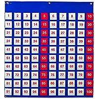 Learning Resources Hundred Pocket Chart - Paquete de 100 tarjetas numeradas