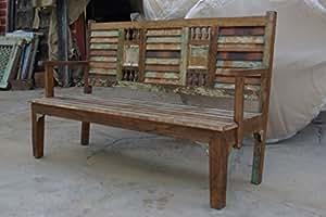 Panca da giardino mobili indiani shabby chic di mobili da - Mobili indiani it ...
