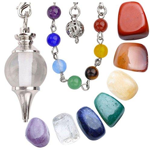 Jovivi Joyería de curación cristales de 7Chakra Tumbled piedras y