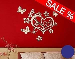 Design4Wall 3717 Cuore di San Valentino L x A: 60cm x 58cm Colore: blu reale (disponibile in 24 colori e molti formati)