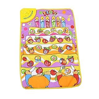 Uarter Baby Musik Teppich Matte Kinder Sound Spielmatte Kinder Lernen Teppich mit Obst und Buchstaben Interspersed