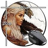 Juego De Tronos Game Of Thrones Daenerys Targaryen Emilia Clarke J Tapis De Souris Ronde Round Mousepad PC