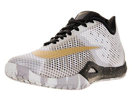 Pr Gold White Pltnm Nike Blck Mtllc Weiß Hyperlive Herren Basketballschuhe w4BFq