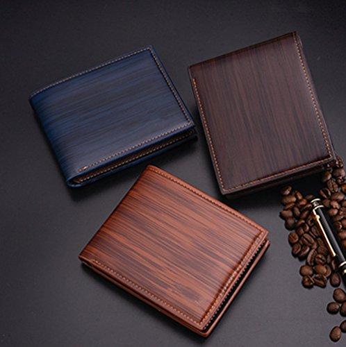 Katech Männer Business Geldbörse Geld und Kartenhalter Geldbörse Multifunktions-Taschen für den täglichen Gebrauch oder als Geschenk dunkelblau