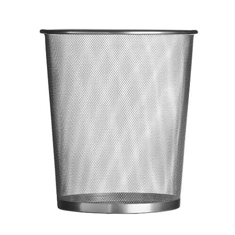 Premier Housewares Large Mesh Waste Paper Bin, 35 x 30 x 30 cm - Silver