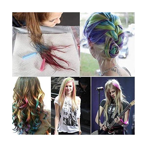 tiza de pelo color temporal del pelo, no tóxicas,Geniales para disfraces, trajes para representaciones y crear looks…