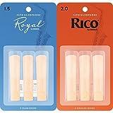 Royal Blätter für Altsaxophon Stärke 1.5 (3 Stück) + RICO Blätter für Altsaxophon Stärke 2.0 (3 Stück) Bundle