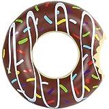 Amazing Sports - Donut hinchable, flotador 120 cm marrón XXL, juguete para el agua