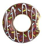 Amazing Sports aufblasbarer Donut Schwimmring 120 cm braun XXL Wasserspielzeug