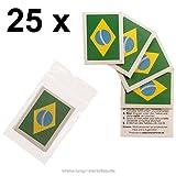 25 x Brasilien Tattoo Fan Fahnen Sett - WM 2018 Brazil temporary tattoo Flag (25)