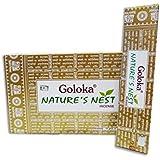 Goloka Nature's Nest 12 lots de bâtonnets d'encens Masala 15g